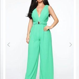 Green Fashion Nova Jumpsuit
